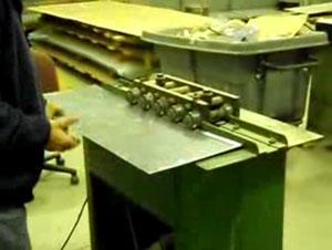 Изготовление лежачего фальца